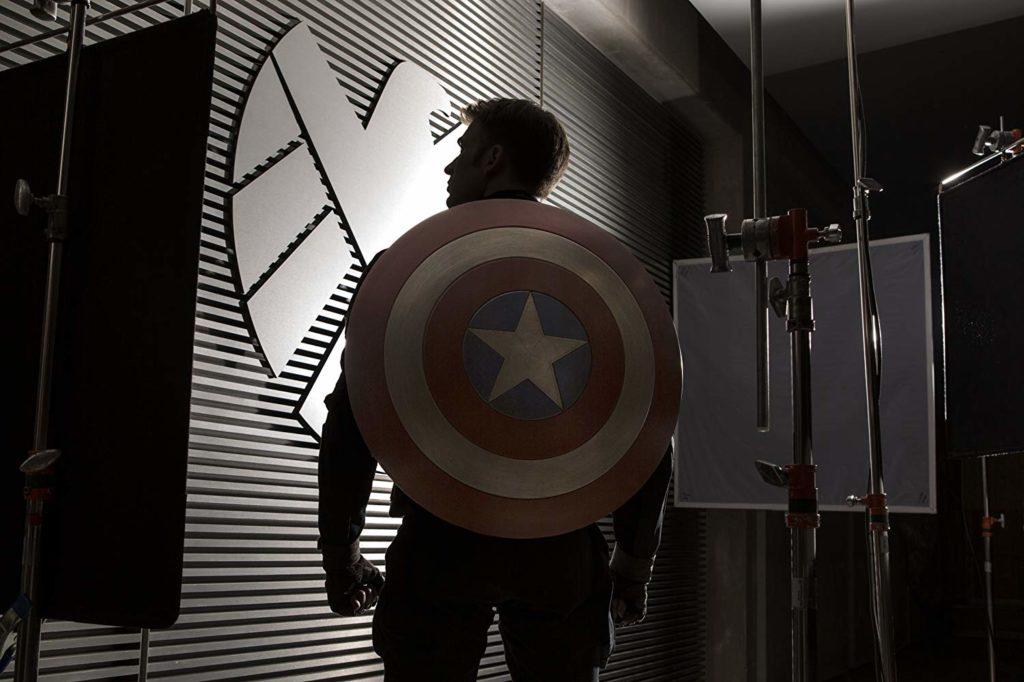 キャプテン・アメリカの背中