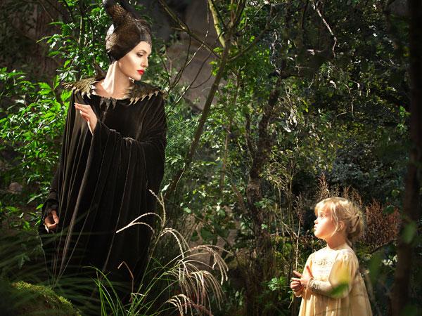 マレフィセントとオーロラ姫の出会い